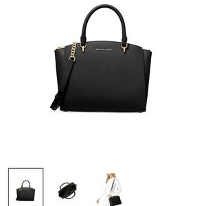 Michael Kors Large Ellis satchel - black